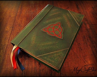 Charmed Book of Shadows with ORIGINAL parchment pages - BIG size 12,20x8,66 inch
