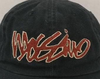 aca8555b349ec9 Vtg 90s Mossimo script graffiti hat