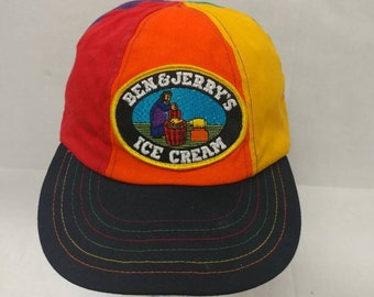a0acdc014ee02 Vtg 90s Ben   Jerry s Ice Cream hat made in the USA