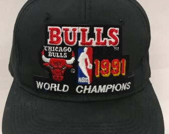ffa9588d1b1 Vtg 90s Chicago Bulls World Champions hat 1991 Sport Specialties cap