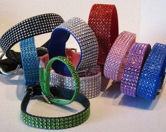 Faux Bling Collars-Cats and Dogs-Rhinestone Bling Cat and Dog Collar-Puppy Collar-Rhinestone Faux Diamond Collar-Fancy Pet Collar-Glitzy Pet