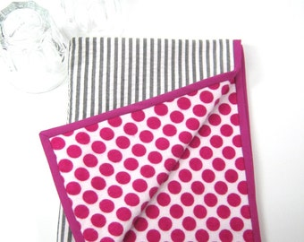Grey white seersucker striped dish drying mat  Modern kitchen cloth Small kitchen decor