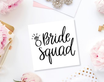 Bride Squad Vinyl Decal, Bridesmaid Proposal, Bridesmaid Decal, Wine Decal, Bridesmaid Gift, Wedding Decal, Bachelorette Party Gift, Decal