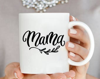 Mama Vine Vinyl Decal, Mama Mug Decal, Gift for Mom, New Mom Gift, Mothers Day Gift, First Mothers Day Gift, Birth Announcement Gift, Yeti
