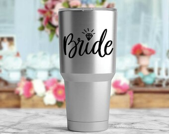 Bride Vinyl Decal, Bridal Shower Gift, Bride Wine Glass Decal, Wine Decal, Wedding Shower Decal, Bride Sticker, Bachelorette Party Gift