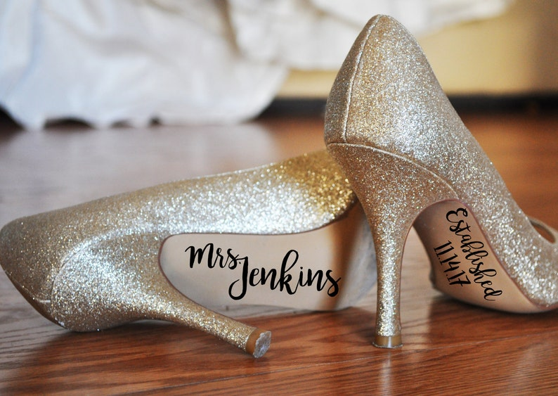 891a5185fa0a Wedding Shoes Decal Personalized Wedding Shoes Sticker