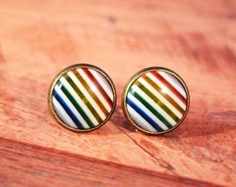 Rainbow Stud Earrings, Rainbow Jewelry, Rainbow Earrings, Rainbows Jewelry, Rainbow Earring, Rainbow Studs, Rainbow Stud, Rainbows Studs