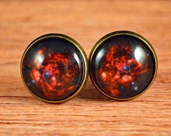 Galaxy Studs, Galaxy Earrings, Nebula Studs, Nebula Earrings, Space Jewelry, Space Studs, Space Earrings, Galaxy Jewelry, Nebula Jewelry