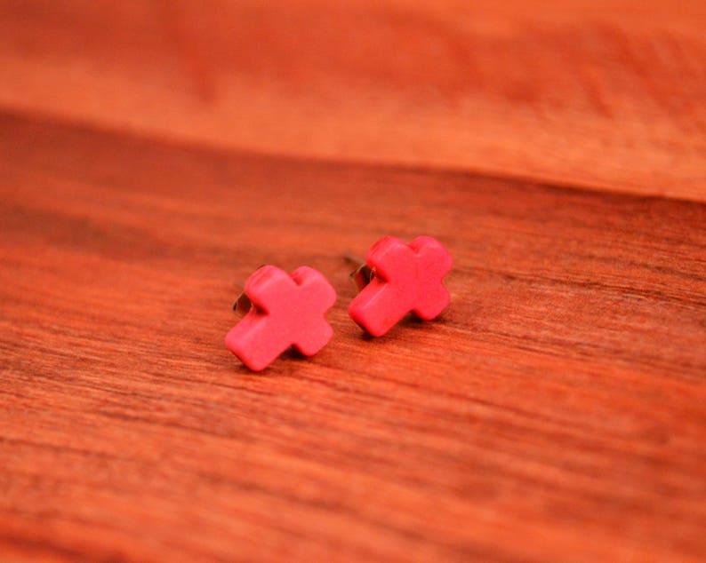 Cross Earring Cross Studs Cross Jewelry Cross Jewelry Gifts Small Cross Stud Earrings Cross Earrings Cross Stud Jewelry