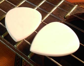 Set of 2 Buffalo Bone Picks - 2mm 351 Standard Shape - Earthy Feel & Sound - Acoustic Guitar, Mandolin, Ukulele
