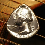 ANY YEAR Quarter Coin Guitar Pick | Birthday, Anniversary, Graduation, Christmas - The perfect personalized Men's & Women's music gift