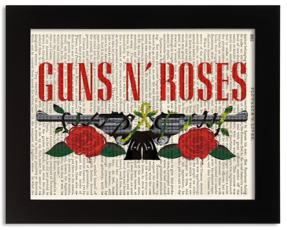 Stylish Framed Wall Art GUNS N ROSES Choose Size SLASH PRINT ON CANVAS