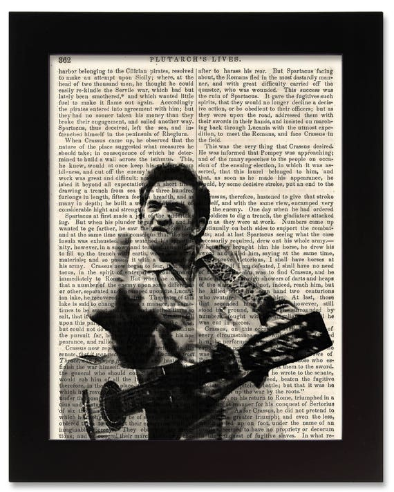 Johnny Cash Art Print on 1850 Antique Book Page 5x7 Framed | Etsy