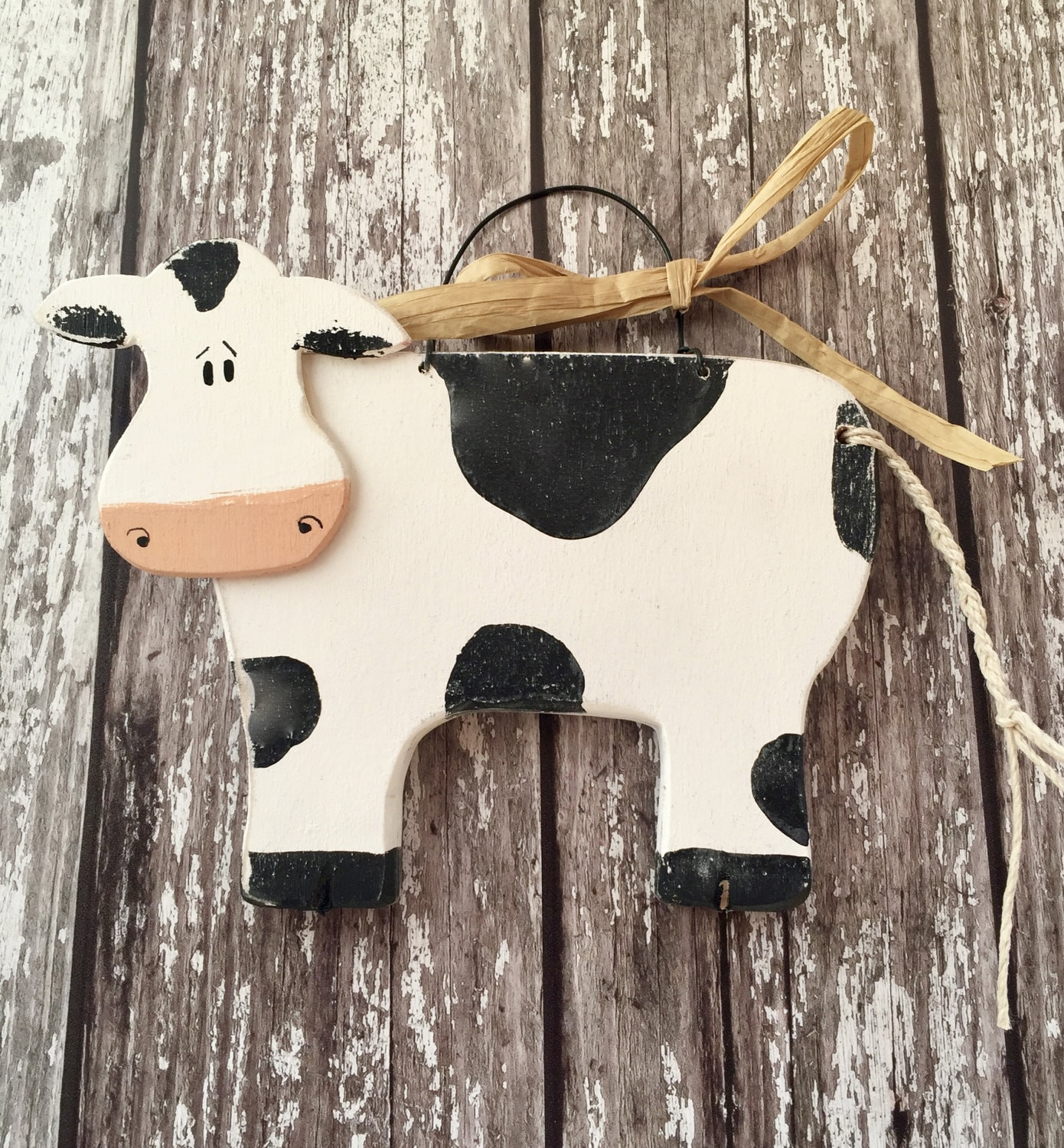 Christmas Decor, Holiday Decorations | Vermont Country Store |Holstein Cow Decorations
