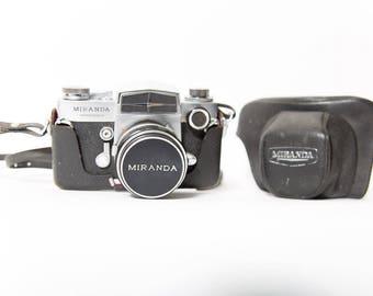 Miranda Sensorex 35mm Camera 1960s Original Leather Case