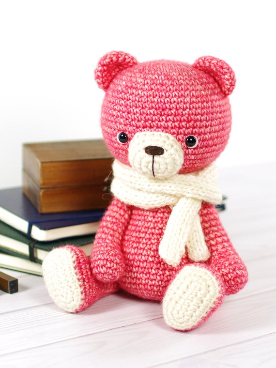 Crochet Teddy Bear Scarves - Double Thick - Customized in ... | 760x570