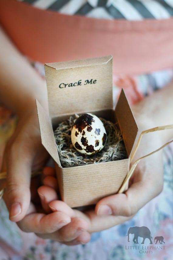 Crack Me! Pregnancy Egg Announcement - Easter Boy Girl - Gender Reveal - Baby Shower Invitation - Christmas -Custom Unique