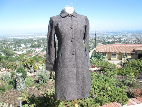 Pretty Vintage 1970's Tweed Coat Womens Coat Girls
