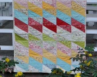 Saw-tooth Baby Quilt pattern