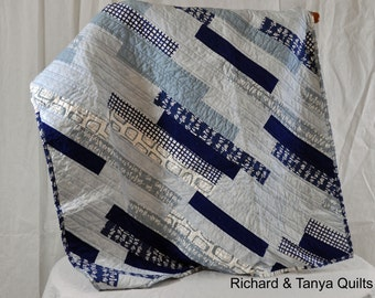 Diagonal Baby Quilt pattern 39 inches by 49 inches