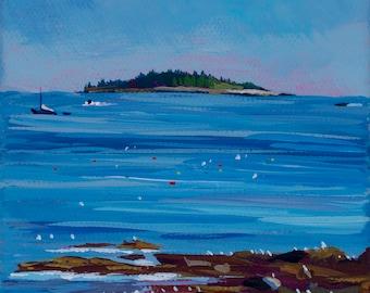 Maine Seascape Seawall Beach Acadia National Park