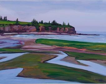 New Brunswick Seascape Painting McLeod's Beach