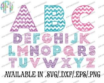 digital cut files chevron pattern letters svg dxf eps alphabet block font vinyl silhouette cricut design space vector