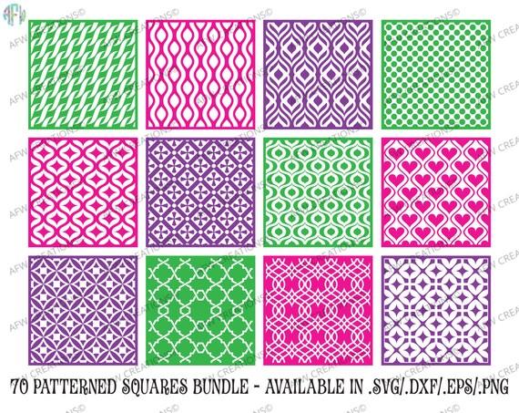 Digital Cut Files 70 Pattern Squares Bundle Svg Dxf Eps Etsy