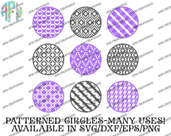 Digital Cut Files Pattern Circles Bundle 4 Svg Dxf Eps Etsy