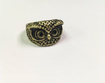 Brass Owl Ring