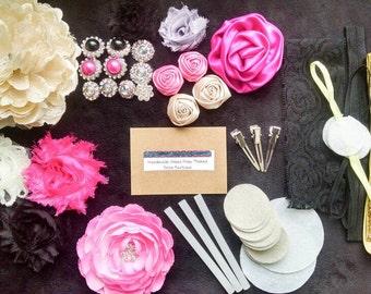 DIY Headband Kit- Baby Shower Kit-Makes 10 Headbands
