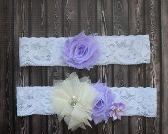 Light Purple Shabby Chic Headband Set, baby headband, infant headband, child headband, Babies First Birthday Set