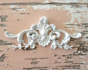 Incroyable Shabby Chic FURNITURE APPLIQUES Architectural Floral Center Flexible No  Limit Shipping 5.95 USA