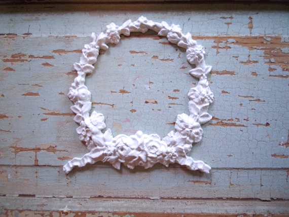 Shabby Chic Furniture Appliques LOWEST PRICES On ETSY Wreath with Roses