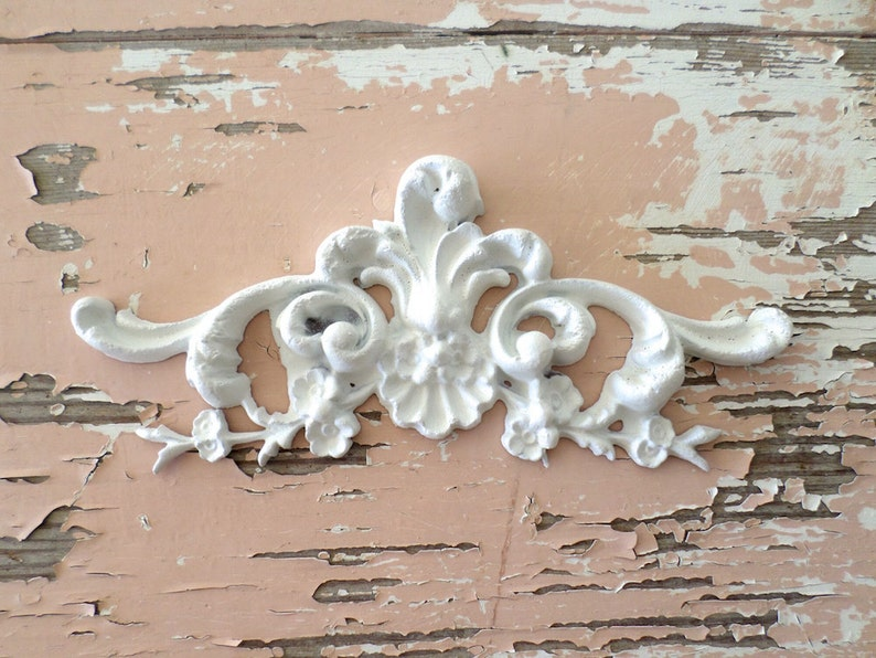 Shabby chic furniture appliques architectural floral center etsy