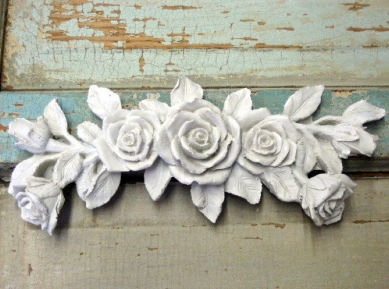 Shabby chic furniture appliques rose bouquet do it yourself etsy
