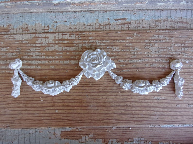 Shabby chic roses furniture appliques rose swags etsy