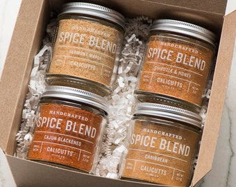 The Grill Master Gift Box - 4 Jars of Handcrafted Spice Blends in Stamped Gift Box