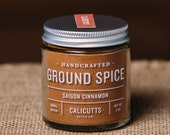 Saigon Cinnamon - Handcrafted Ground Spice - 2 ounces in Glass Jar, All-Natural and Gluten Free