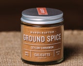 Ceylon Cinnamon - Handcrafted Ground Spice - 2 ounces in Glass Jar, All-Natural and Gluten Free