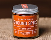 Cayenne Chile - Handcrafted Ground Spice - 2 ounces in Glass Jar, All-Natural and Gluten Free