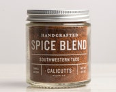 Southwestern Taco - Handcrafted Spice Blend - 2.6 ounces in Glass Jar, All-Natural and Gluten Free