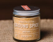 Mustard - Handcrafted Ground Spice - 2 ounces in Glass Jar, All-Natural and Gluten Free