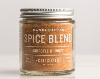 Chipotle & Honey - Handcrafted Spice Blend - 3 ounces in Glass Jar, All-Natural and Gluten Free