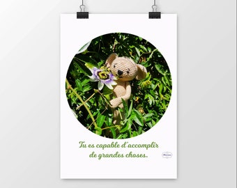 Poster mat koala positive phrase