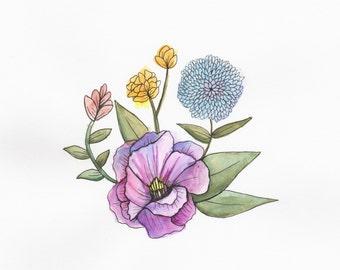 Flowers - ORIGINAL watercolor painting