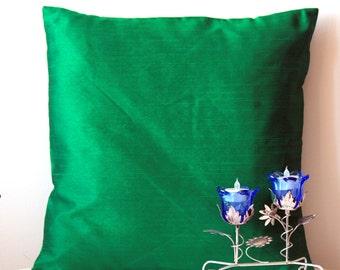 Emerald Green Pillow, Solid Pillow, Green Throw Pillow, Green Cushion, Green Pillow Cover, Decorative Pillow,Accent Pillow,18x18 pillow