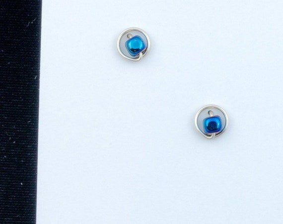 SMALL stud earrings, CHOOSE your beads, 7mm diameter, choose your metal