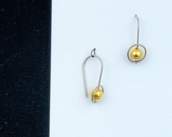 41f704d4a hoop earrings, choice of metal and beads, silver, gold filled, rose gold,  allergy safe niobium