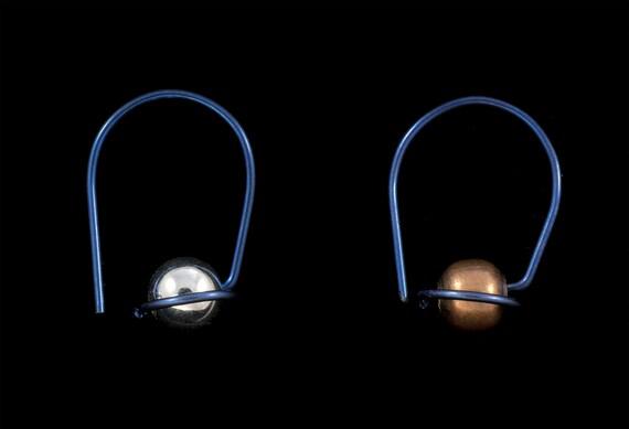 Designer Sleepers, CHOOSE your own BEADS & METAL, hoops, great gift, Allergy Safe Niobium